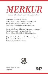 Cover MERKUR Gegründet 1947 als Deutsche Zeitschrift für europäisches Denken - 2019-7