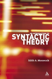 Cover Introduction to Syntactic Theory