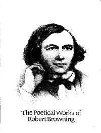 Cover The Complete Poetic Works of Robert Browning