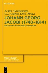 Cover Johann Georg Jacobi (1740–1814)
