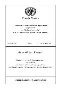 Cover Treaty Series 2977/Recueil des Traités 2977