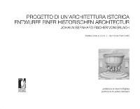 Cover Progetto di un'Architettura istorica/Entwurff Einer Historischen Architectur