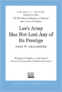 Cover Lee's Army Has Not Lost Any of Its Prestige