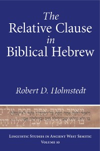 Cover The Relative Clause in Biblical Hebrew