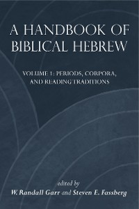 Cover A Handbook of Biblical Hebrew