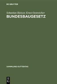 Cover Bundesbaugesetz