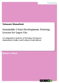 Cover Sustainable Urban Development. Drawing Lessons for Lagos City