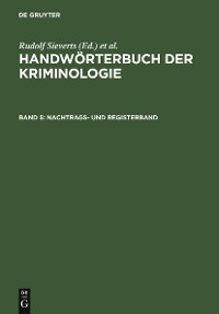 Cover Nachtrags- und Registerband