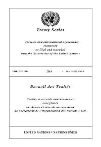 Cover Treaty Series 2994/Recueil des Traités 2994