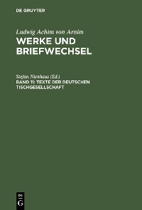 Cover Texte der deutschen Tischgesellschaft
