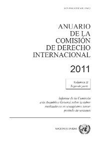 Cover Anuario de la Comisión de Derecho Internacional 2011, Vol. II, Parte 2