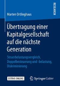 Cover Übertragung einer Kapitalgesellschaft auf die nächste Generation