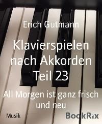 Cover Klavierspielen nach Akkorden Teil 23