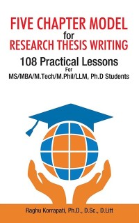 Cover Five Chapter Model for Research Thesis Writing