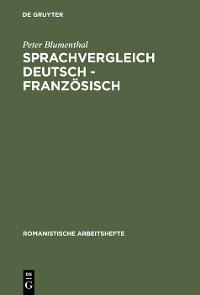 Cover Sprachvergleich Deutsch - Französisch