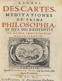 Cover Meditationes de prima philosophia