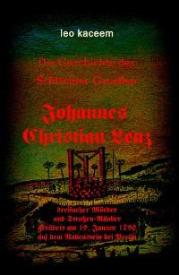 Cover Johannes Christian Lenz