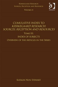 Cover Volume 21, Tome III: Cumulative Index