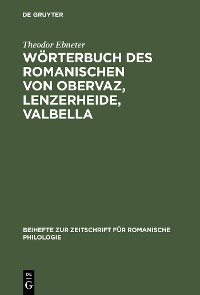 Cover Wörterbuch des Romanischen von Obervaz, Lenzerheide, Valbella