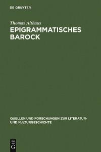 Cover Epigrammatisches Barock
