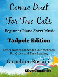 Cover Comic Duet for Two Cats Beginner Piano Sheet Music Tadpole Edition