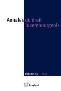 Cover Annales du droit luxembourgeois – Volume 25 – 2015