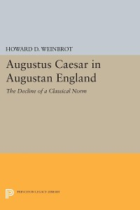 Cover Augustus Caesar in Augustan England