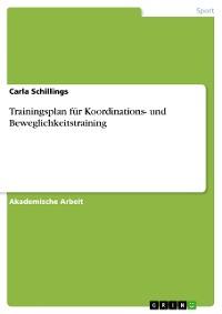 Cover Trainingsplan für Koordinations- und Beweglichkeitstraining