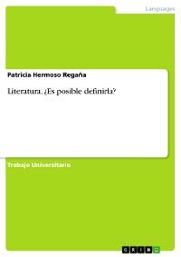 Cover Literatura. ¿Es posible definirla?