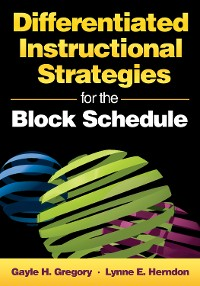 Cover Differentiated Instructional Strategies for the Block Schedule