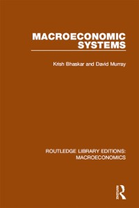 Cover Macroeconomic Systems