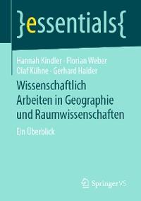 Cover Wissenschaftlich Arbeiten in Geographie und Raumwissenschaften