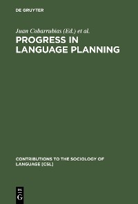 Cover Progress in Language Planning