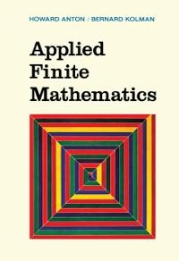 Cover Applied Finite Mathematics