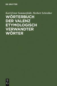 Cover Wörterbuch der Valenz etymologisch verwandter Wörter