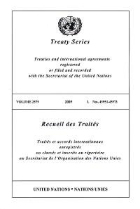 Cover Treaty Series 2579/Recueil des Traités 2579