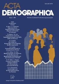 Cover Acta Demographica