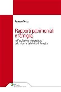 Cover Rapporti patrimoniali e famiglia