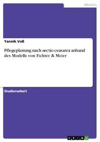 Cover Pflegeplanung nach sectio ceasarea anhand des Modells von Fichter & Meier