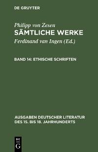 Cover Ethische Schriften