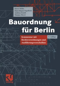 Cover Bauordnung fur Berlin