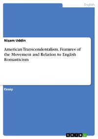 Cover American Transcendentalism. Features of the Movement and Relation to English Romanticism