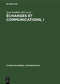 Cover Échanges et communications, I
