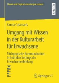 Cover Umgang mit Wissen in der Kulturarbeit für Erwachsene