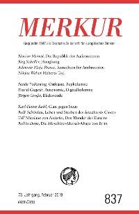 Cover MERKUR Gegründet 1947 als Deutsche Zeitschrift für europäisches Denken - 2019-2