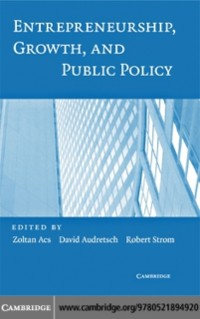 Cover Entrepreneurship, Growth, and Public Policy