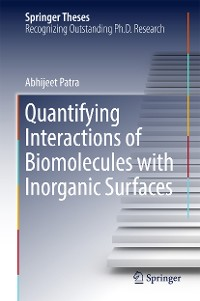Cover Quantifying Interactions of Biomolecules with Inorganic Surfaces