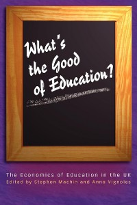 Cover What's the Good of Education?