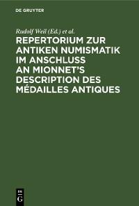 Cover Repertorium zur antiken Numismatik im Anschluß an Mionnet's Description des médailles antiques