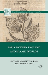 Cover Early Modern England and Islamic Worlds